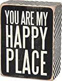 """Primitives by Kathy """"You Are My Happy"""" Black Box Sign"""