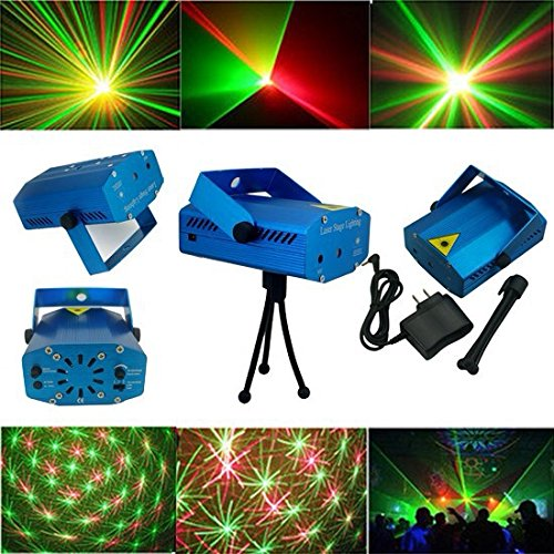 Mini Voice-control Laser Pointer Disco Dj Light Xmas Party Stage Lighting Partterns Projector.