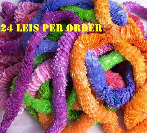 Poly Leis - Pretty 2 Tone - 12 Pack - Great Kids Luau Party Supplies!