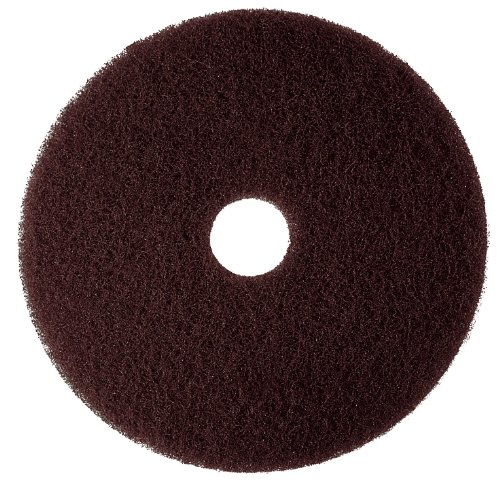 "3M Brown Stripper Pad 7100, 15"" Floor Stripper Pad (Case Of 5) front-236146"