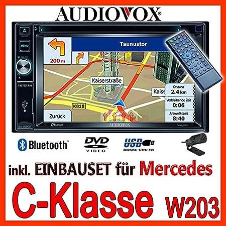 Mercedes-benz w203 classe c-audiovox vXE7020 navigationsradio uE autoradio navi dVD avec écran tFT bluetooth