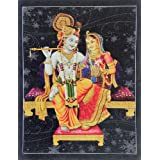 "Dolls Of India ""Radha Krishna"" Reprint On Card Paper - Unframed (29.21 X 22.86 Centimeters)"