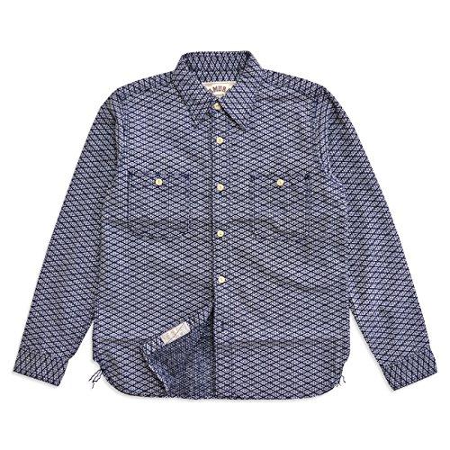 (サムライジーンズ)SAMURAI JEANS 刺し子長袖ワークシャツ(SSS15-L01)/和柄日本製アメカジM~XL