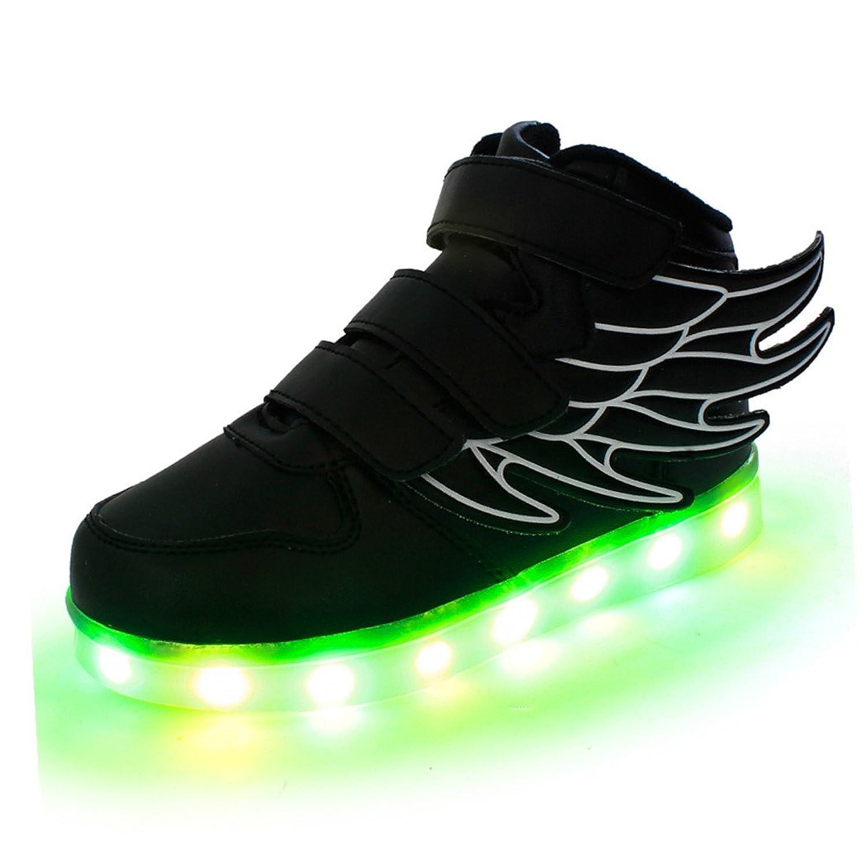 SLEVEL Kid Boy Girl Upgraded USB Charging LED Light Sport Shoes Flashing Sneakers