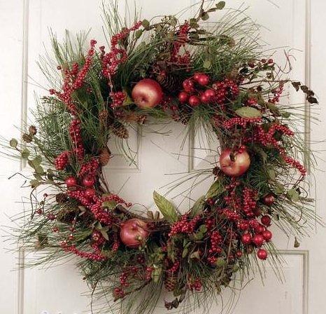 Fruit theme christmas wreaths christmas wikii for Christmas crown decoration
