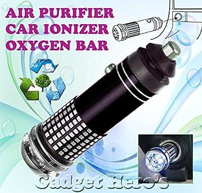 Electomania Mini Car Auto Ionizer Fresh Air Purifier Oxygen Ozone Bar Cleaner Deodorant Black