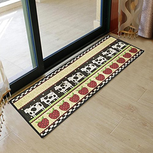 Fabric Non-Slip Indoor Outdoor Kitchen Mat Rug 46x18