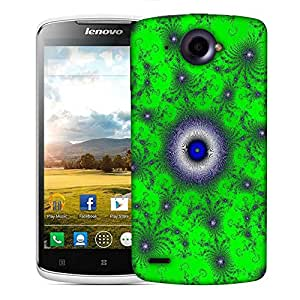 Snoogg Green Orb Designer Protective Phone Back Case Cover For Lenovo S920