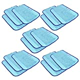 shp zone microfiber 15 pack pro clean mopping cloths for braava floor mopping robot 380 380t