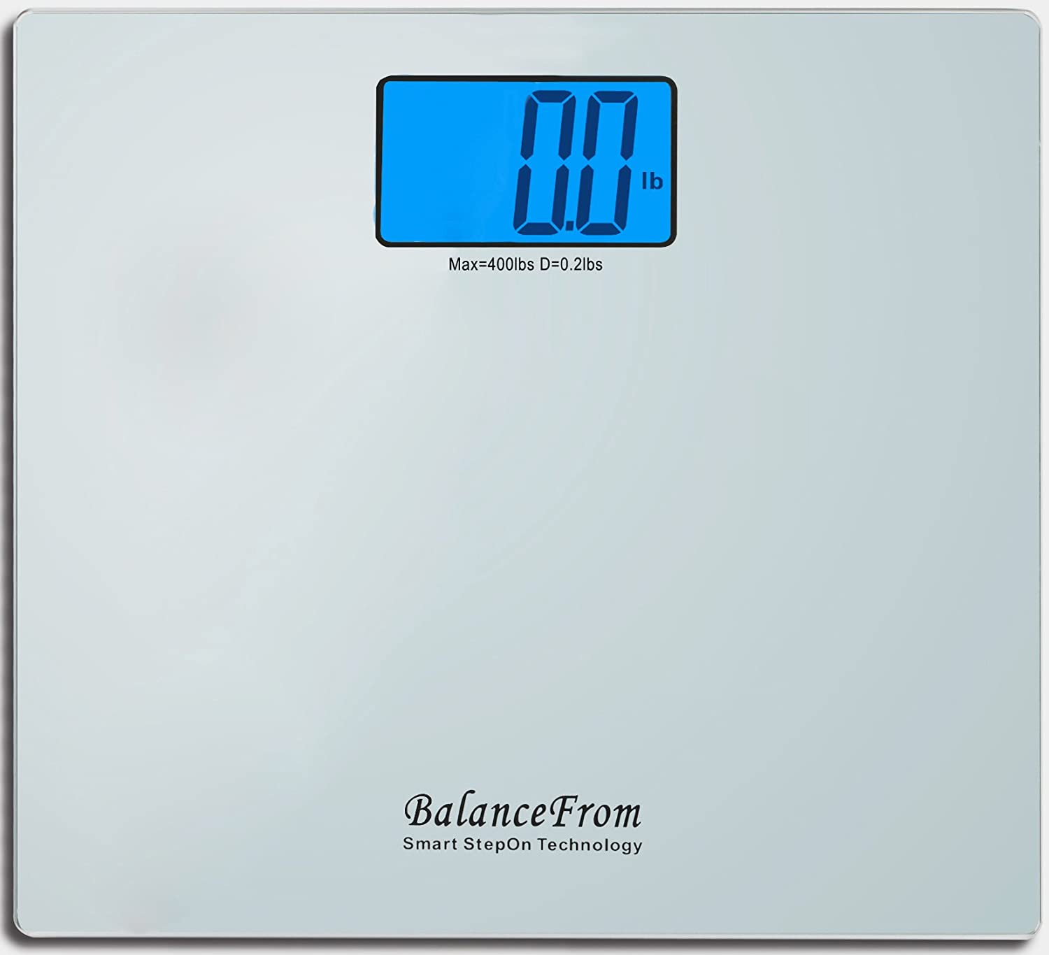 """BalanceFrom High Accuracy Digital Bathroom Scale with Large Backlight Display and""""Step-On"""" Technology [Newest Version] (Silver)"""