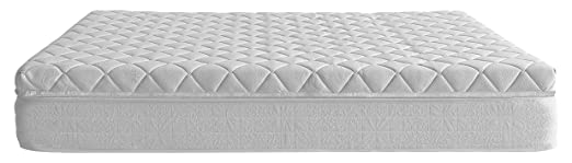 Royal Beds Box Spring Plus Materasso + topper, Poliestere, Bianco, Singolo, 190 x 80 x 10 cm