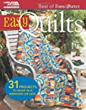 Easy Quilts (Best of Fons & Porter)
