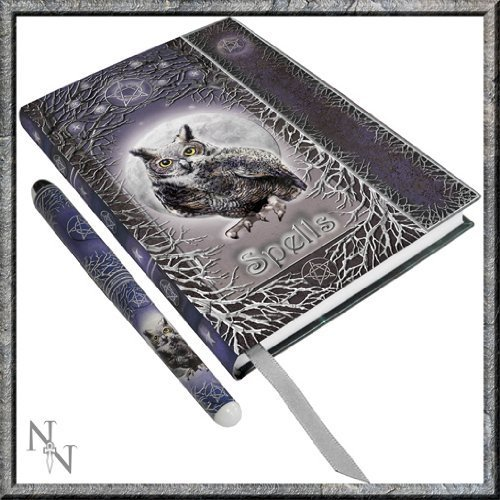 Luna Lakota Spells Owl 6.75 Hard Cover Embossed Collector Journal Book with Pen by Pacific Giftware