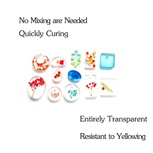 Miraclekoo UV Resin UV Curing Epoxy Resin Hard UV Glue Ultraviolet Curing Solar Cure Resin Sunlight Activated Resin for DIY Jewelry Making Casting & Coating (500g,New) (Tamaño: 500g,new)