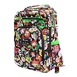 Ju-Ju-Be Be Right Back Backpack Style Diaper Bag - Tokidoki Bubble Trouble - Black/Green by Ju-Ju-Be