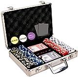 Da Vinci 200 Dice Striped Poker Chip Set, 11.5gm