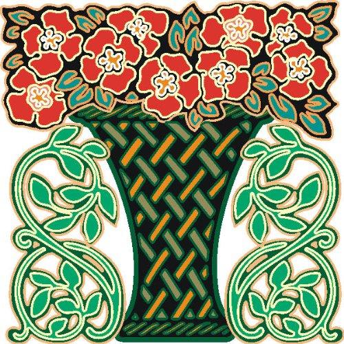 Imagen 1 de Etiqueta de la pared multicolor MF133 Bouquet plantación ornamento al tribal 120 x 119 cm