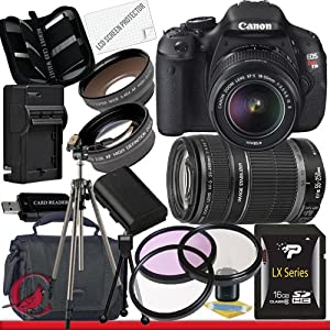Canon EOS Rebel T3i 18 MP CMOS Digital SLR Camera w/ 18-55mm IS II & 55-250 IS II Lens Kit Package 6