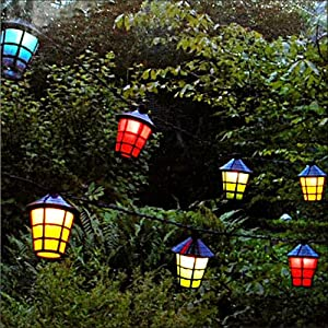 Guirlande lumineuse jardin 20 lanternes jardin - Guirlande de jardin ...