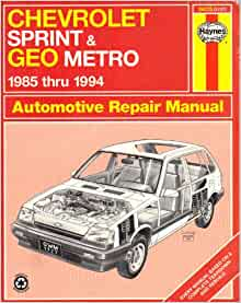 geo metro repair manual pdf