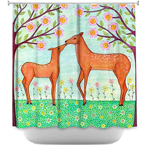 DiaNoche Designs Shower Curtains by Sascalia Unique, Cool, Fun, Funky, Stylish, Decorative Home Decor and Bathroom Ideas - Woodland Deer