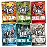 Henderson's Boys Pack, 6 books, RRP £41.94 (The Escape; Eagle Day; Secret Army; Grey Wolves; The Prisoner; One Shot Kill). Robert Muchamore