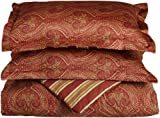 Tuscan Paisley Collection 300-Thread-Count Cotton Full/Queen Duvet Set, Spi ....