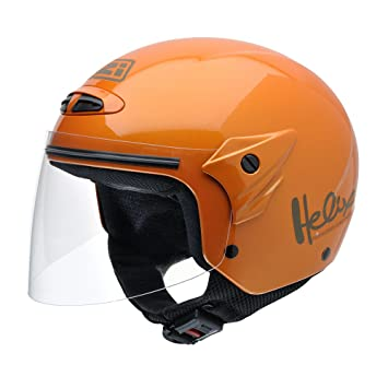 NZI 050215G193 Helix Junior Metallic Orange, Casque de Moto, Taille L Orange