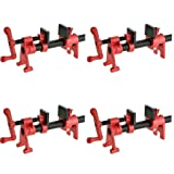 Bessey BPC-H34 3/4-Inch H Style Pipe Clamp, red (Pack of 4) (Tamaño: Pack of 4)