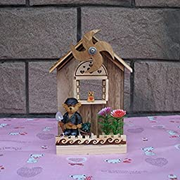 YONG Wooden windmill music box creative crafts