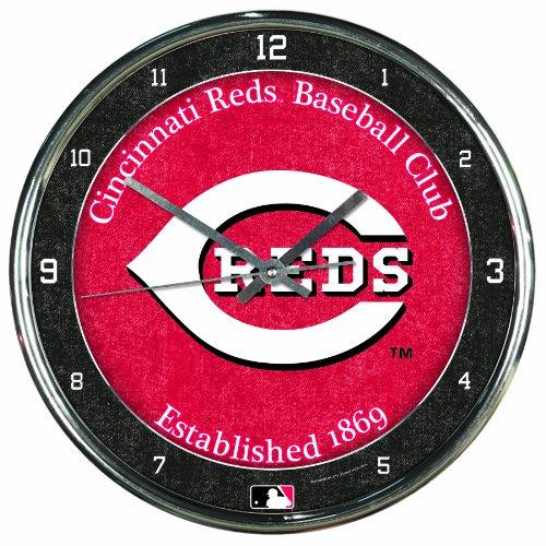 MLB Cincinnati Reds Chrome Clock
