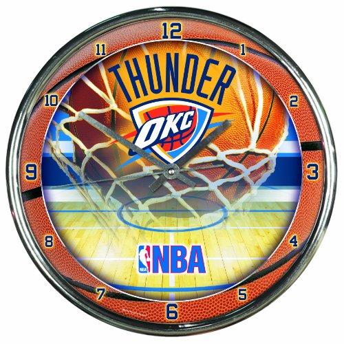 NBA Oklahoma City Thunder Chrome Clock