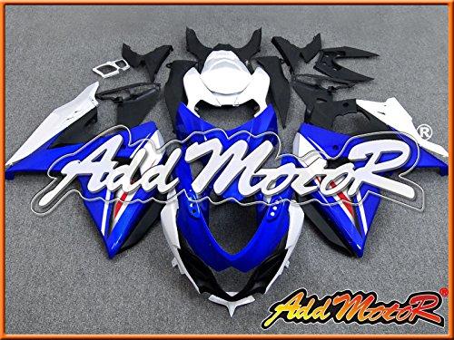 Addmotor 社外品 外装キット スズキ SUZUKI GSXR1000 GSX-R1000 GSXR 1000 K9 2009 2010 2011 2012 2013 09-13 用 黒 白 S1915