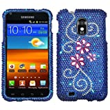 jdmobo Jewel Rhinestone Diamond Case Protector Cover for Samsung Epic Touch 4G SPH-D710 Sprint Galaxy S2 US Cellular SCH-R760 -Juicy Flower