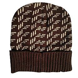 Camey men brown skull cap