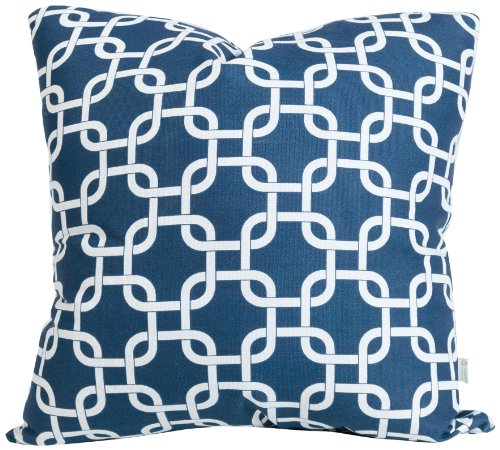 Majestic Home Goods Pillow, X-Large, Links, Navy Blue front-917162