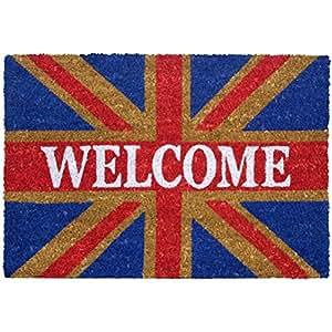 Paillasson drapeau london anglais welcome cuisine maison - Paillasson en anglais ...