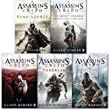 Oliver Bowden Assassins Creed 5 Books Collection Pack Set.(Forsaken, Brotherhood, Renaissance, Secret Crusade & Revlations)
