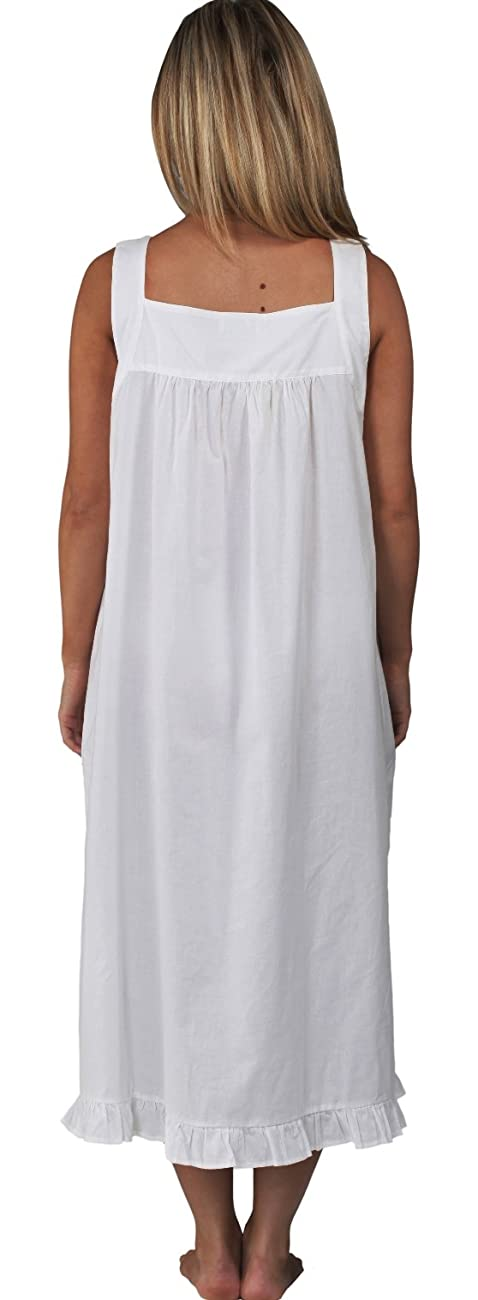 The 1 for U Nancy 100% Cotton Victorian Sleeveless Nightgown 7 Sizes 3
