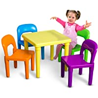 OxGord PLTC-01 Kids Table and Chairs Play Set