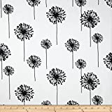 Premier Prints Dandelion White/Black Fabric By The Yard