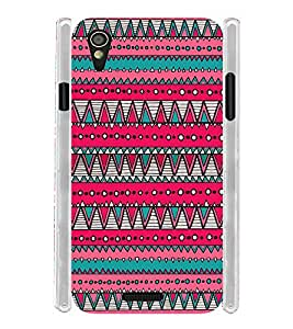 Pink Pattern Tribal Indian Soft Silicon Rubberized Back Case Cover for Lava Iris X1 Mini