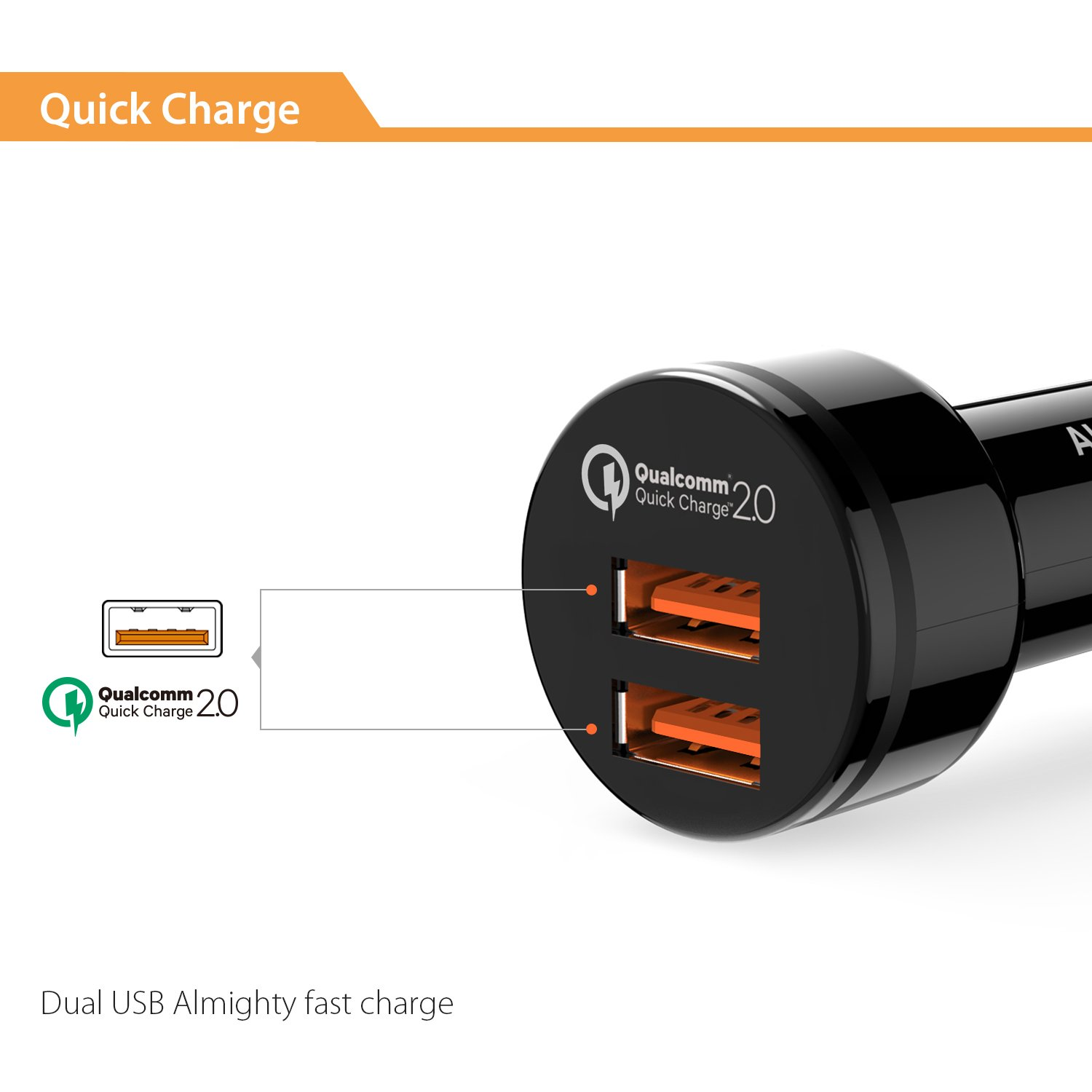 Aukey Quick Charge 2.0 and Type