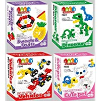 Chain Links Gala 4 In 1 Chain Links Building Block Mega 100 Pieces Included In Each Set 4 Toy Sets For 3+ Aged...