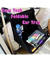 Zone Tech Foldable Automotive Back of Seat Laptop Holder Food Tray Table Black