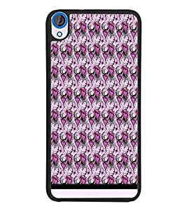 PrintDhaba Heart Pattern D-1552 Back Case Cover for HTC DESIRE 820 (Multi-Coloured)