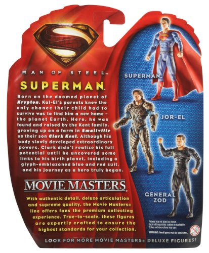 Man of Steel Movie Masters Superman Action Figure