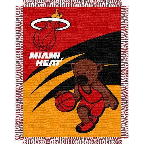 NBA Miami Heat 36-Inch-by-46-Inch Woven Jacquard Baby Throw