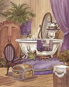 Victorian bathroom i by jerianne van dijk art for Bathroom paintings amazon
