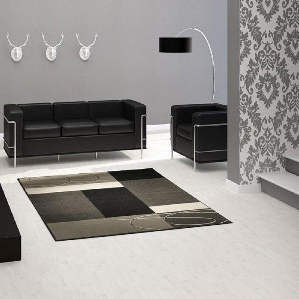 Teppich / moderner Teppich / Wohnzimmerteppich / Wohnzimmerteppich in schönen Farben / Wohnzimmerteppich / Designerteppich in schönen Farben / Qualitätsteppich Designer Teppich Wohnteppich Teppich moderner Wohnzimmer Teppich / grau beige schwarz / Als markantes Accessoire in Ihrem Wohnbereich – der Teppich strahlt einen Ausdruck von Abenteuerlust aus. Der Teppich passt mit seiner Farbgebung in jede moderne Wohnlandschaft. Trendiger Teppich in modischen Farben und Designs – vereint dieser Teppich einzigartige Akzente des Wohlfühlens und Eleganz, der in Ihrem Zuhause für eine angenehme Atmosphäre sorgt. Robust und Strapazierfähig 160 x 230 cm . Dieses Highlight der neuen Kollektion beeindruckt durch einzigartige Farbkombination. Dieses Highlight der neuen Kollektion beeindruckt durch einzigartige Farben als Farbverlauf . Doch seine Besonderheit bekommt dieses Modell durch das ausgefalle Muster, welches in dieser Form nur selten zu finden ist. günstig